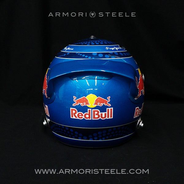 SEBASTIAN VETTEL 2013 SIGNED HELMET VISOR REDBULL TRIBUTE 1:1 FULL SCALE - SOLD