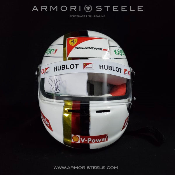SEBASTIAN VETTEL 2018 SIGNED AUTOGRAPHED HELMET 1:1 FULL SCALE F1 DISPLAY EDITION FERRARI - CLEAR VISOR