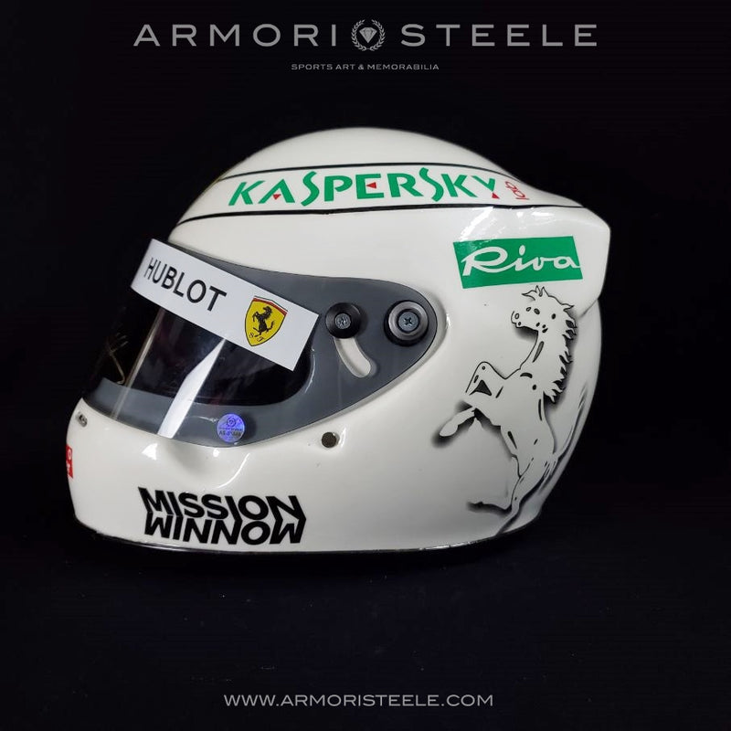 Sebastian Vettel 2018 SIGNED Autographed Helmet 1:1 Full Scale F1 Display Edition Ferrari - Malaysia Singapore