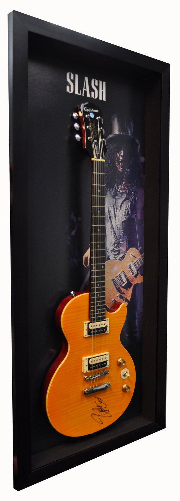 SLASH GUNS N' ROSES SIGNED GUITAR EPIPHONE AUTOGRAPHED LES PAUL SHADOW BOX FRAME