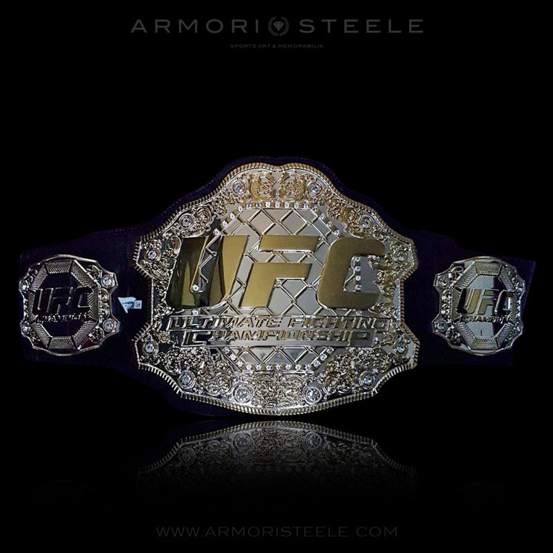 UFC BELT FULL SIZE OFFICIAL REPLICA COA CERTIFIED - 10K GOLD PLATED- SOLD OUT