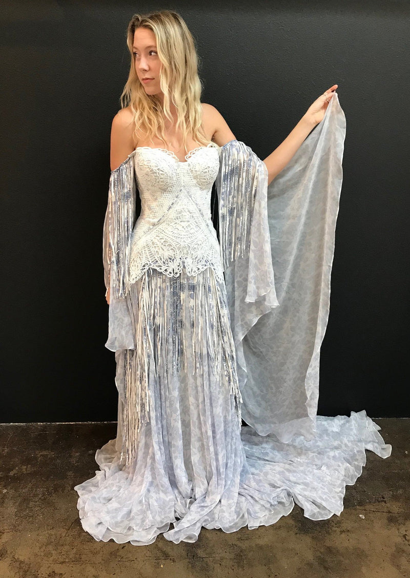 Blue Bayou By Rue De Seine Wedding Dress - Size 6