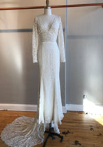 Frankie (with sleeves) By Made With Love Wedding Dress - Size 10