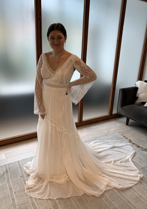 Gabriella (with separate sleeves) By Rish Wedding Dress - Size 22