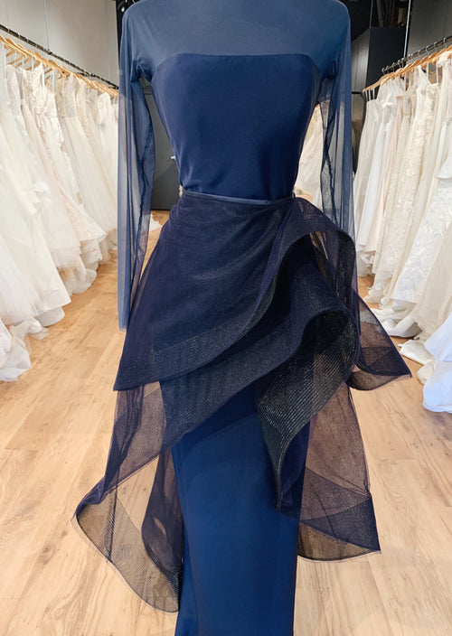 Navy Gown custom made by Romona Keveza / sz 4