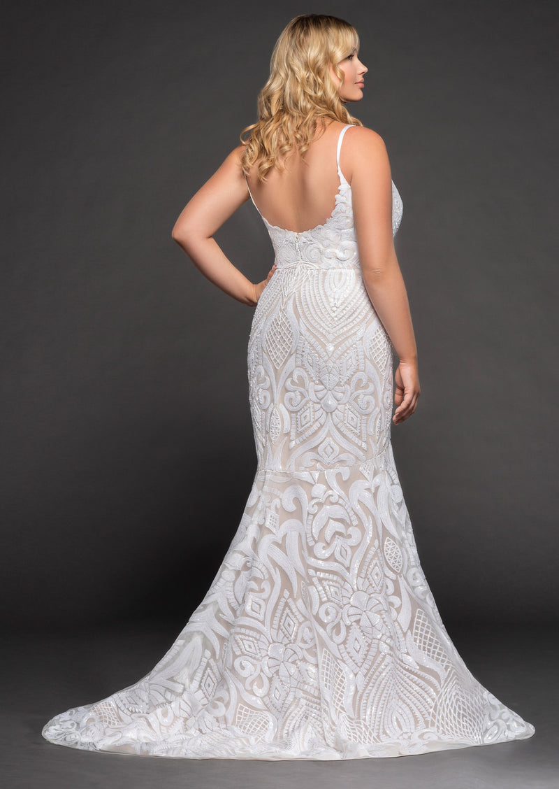 West By Blush By Hayley Paige Wedding Dress - Size 16
