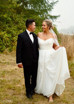 Natalie (Custom) By Truvelle Wedding Dress - Size 12