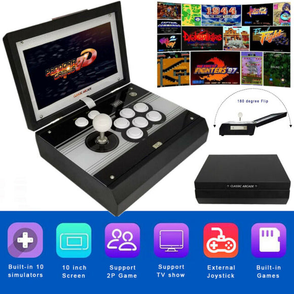 Portable Foldable 2448 in 1 3D Arcade Game 134 3D 2314 2D Games Full HD 10 inch