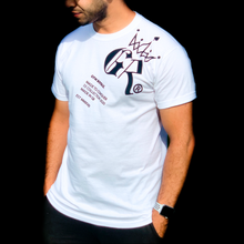 Load image into Gallery viewer, Gym Royale® - Tilted Large Logo White Tee