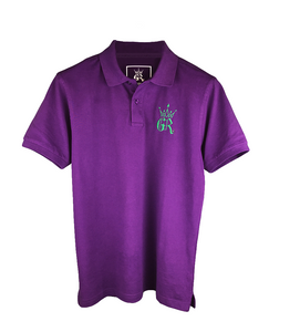 Gym Royale® Pique Polo Shirt – Purple/Green