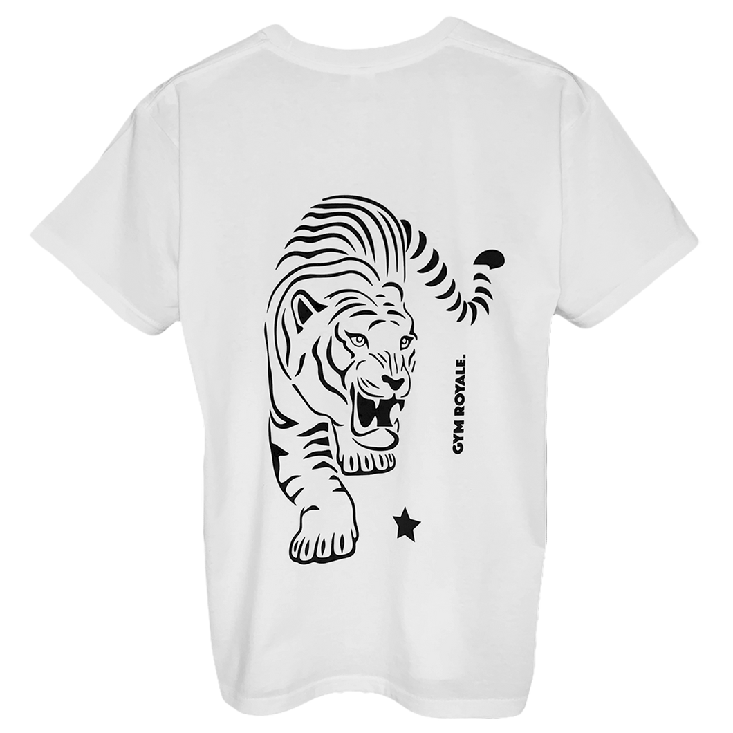 Gym Royale® - Tiger Roar Black Tee