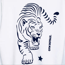 Load image into Gallery viewer, Gym Royale® - Tiger Roar Black on White Sweatshirt