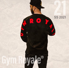 Load image into Gallery viewer, Gym Royale® Large Flock Back - Sweatshirt - Red on Black