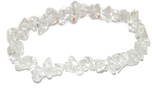 Crystal Chip Bracelet CLEAR QUARTZ