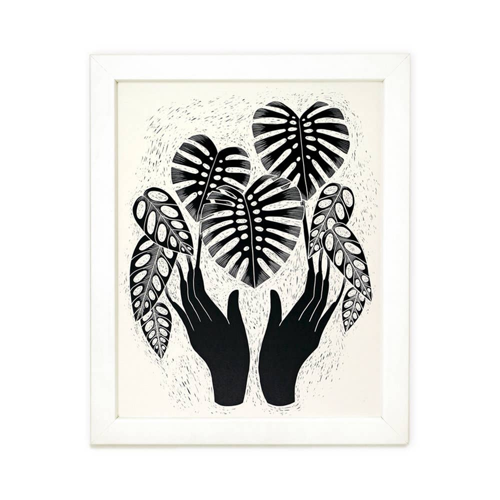 Monstera Magic Art Print