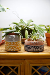 Ceramic Face Planters for Plants