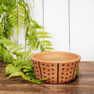 Patterned Terracotta Planter