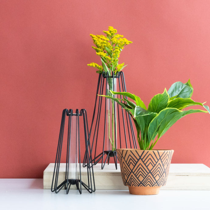 Geometric Footed Terracotta Planter