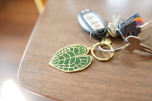 Load image into Gallery viewer, Anthurium Clarinervium Keychain