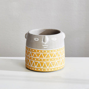 Yellow Face Planter