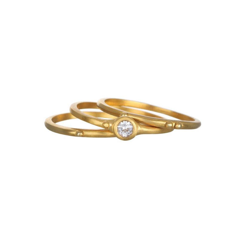 "SATYA - Ring RG028-52-Z8 ""Gold White Topaz"" Set 3 -  - No59 Conceptstore Cologne"
