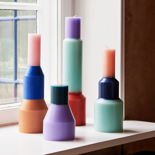 "HAY - Kerze ""Pillar Candle"" M in Blau -  - No59 Conceptstore Cologne"