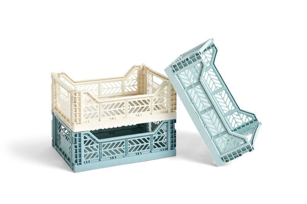 "HAY - Stapelkiste ""Colour Crate"" M Teal -  - No59 Conceptstore Cologne"