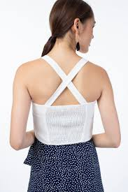 Fanya Crossback Cropped Top