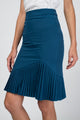Kaila Asymmetrical Pleated Hem Skirt