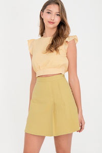 Jacinda Side Pleat Skirt