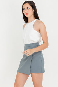 Jessie High Waisted Foldover Mini Skirt