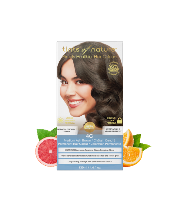 Tints of nature 4C Medium Ash Brown Permanent Hair Dye
