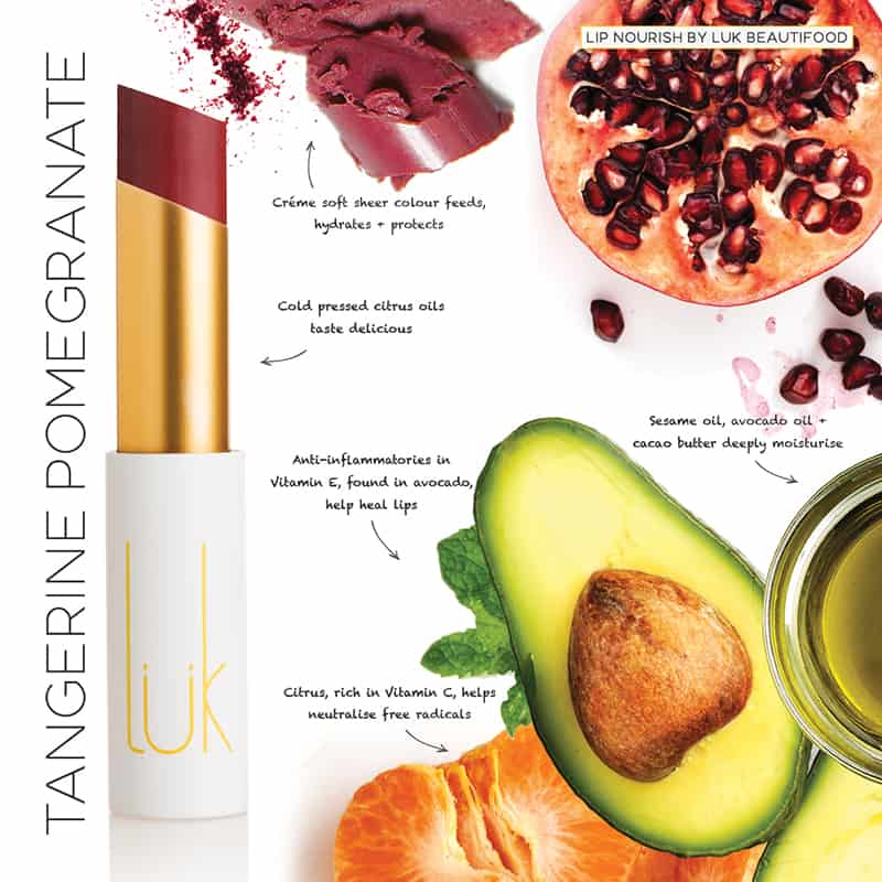 LUK Lip Nourish Tangerine Pomegranate Natural Lipstick