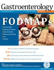 Cover of the January edition of the Gastroenterology Journal featuring low FODMAP research