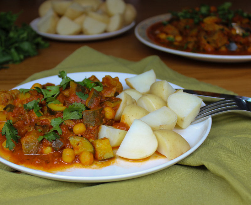 Photo of low FODMAP Yemeni Spiced Lamb Stew with Chickpeas