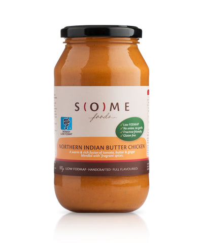 Certified low FODMAP Northern Indian Butter Chicken jar