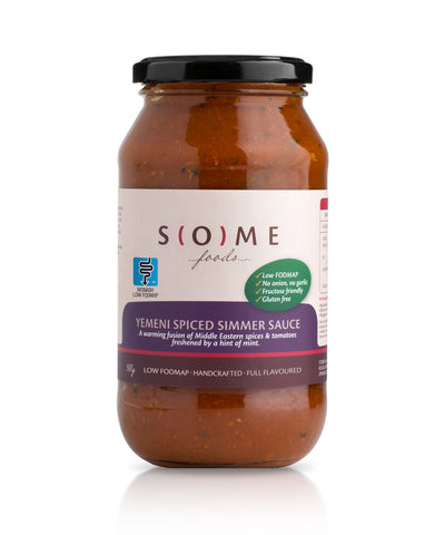 Certified low FODMAP Yemeni Spiced Simmer Sauce jar