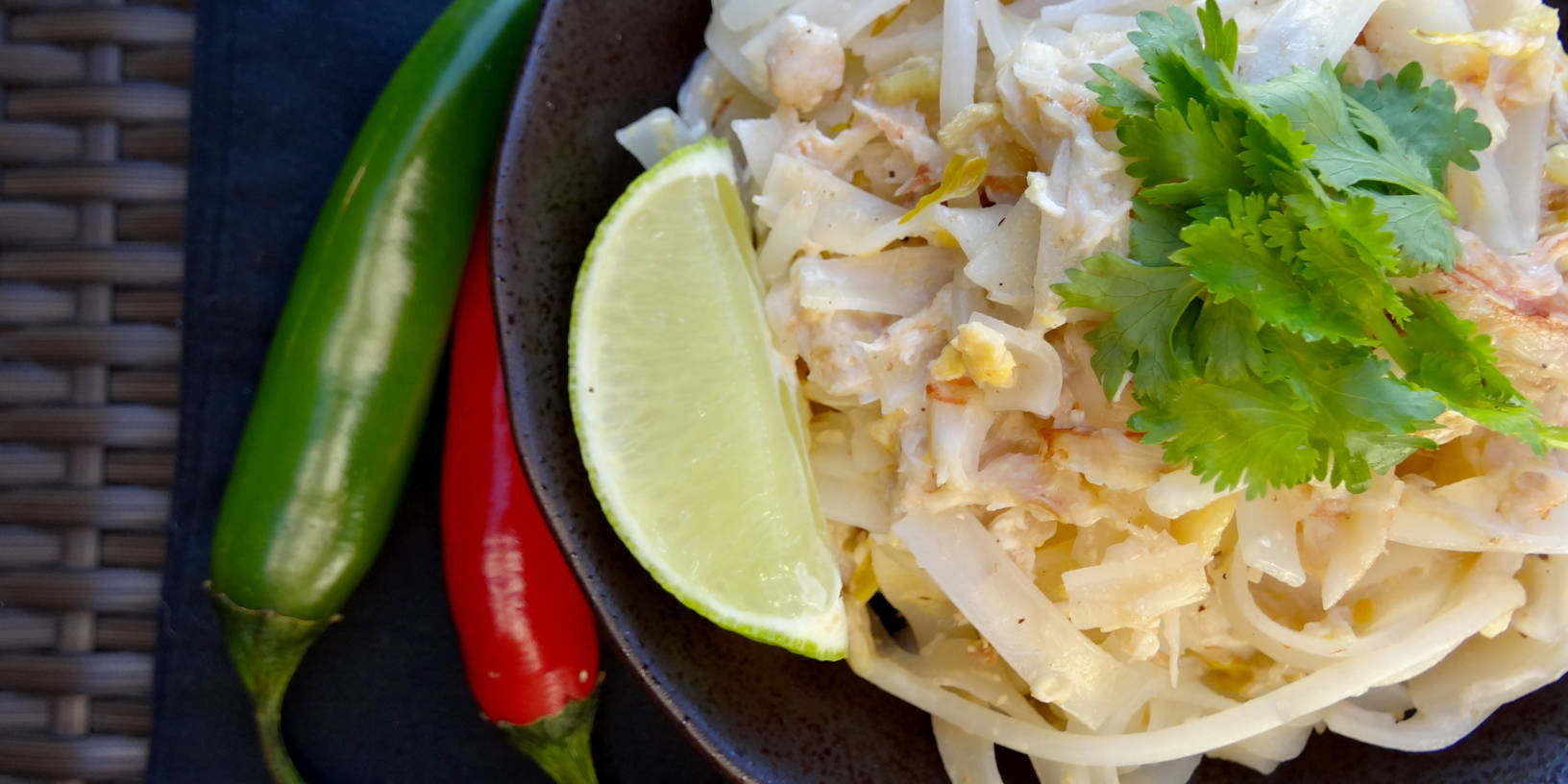 Thai Fried Noodles with crab