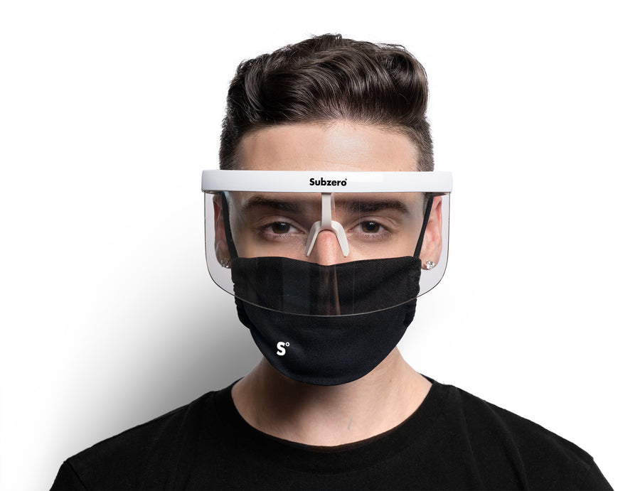 Visor Shield Full White Clear