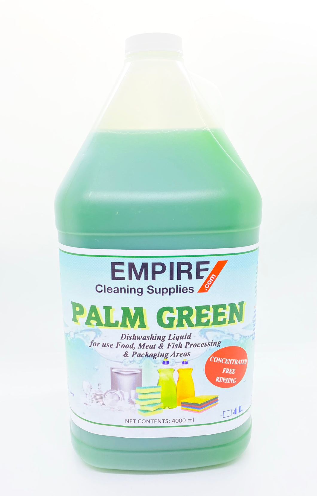 Palm Green Dishwashing Soap 4 Litres