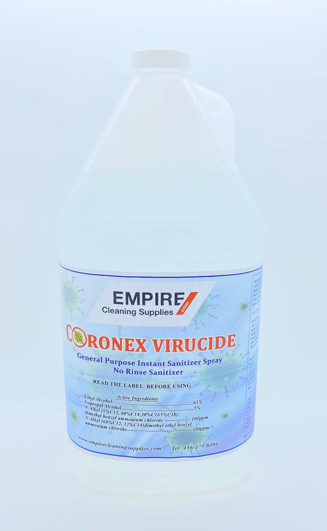 CORONEX VIRUCIDE CLEANER SPRAY 4 LITRE JUG