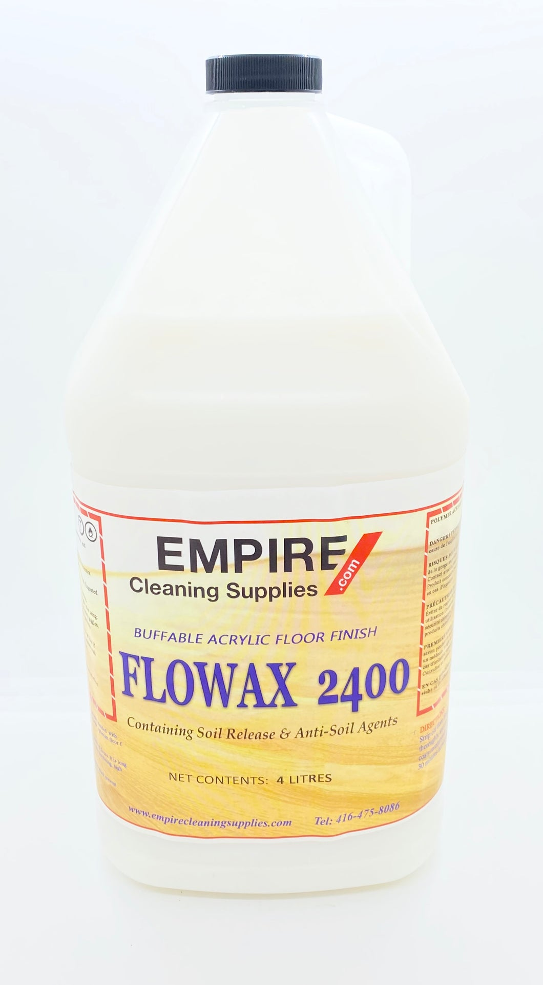 FLOOR FINISH- 24% METALOCK -FLOWAX 2400 4 LITRE JUG