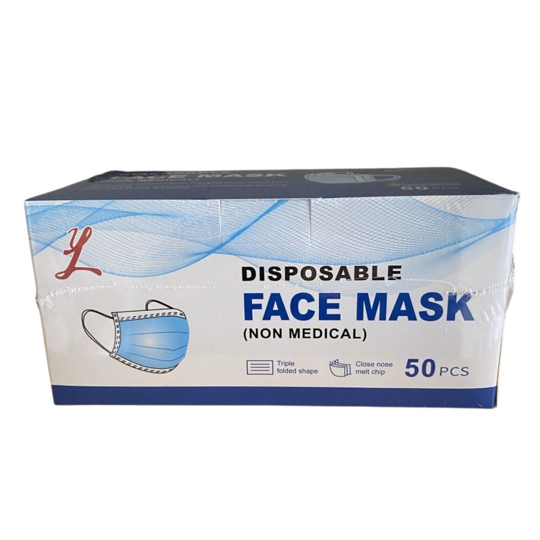 Disposable Face Cover Mask(50 Pieces/Bag)