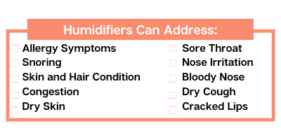 humidifiers can address