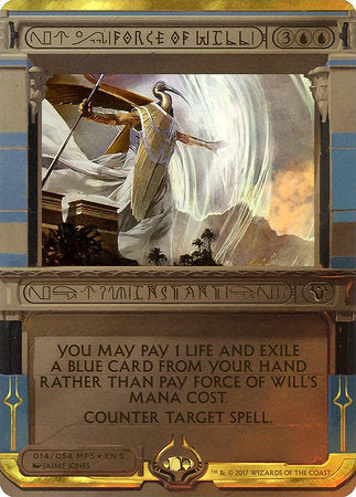Force of Will [Amonkhet Invocations] | Gear Gaming Birmingham Alabama
