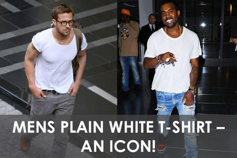 Mens Plain White T-Shirt – An Icon!