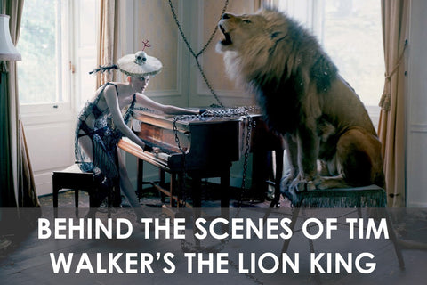 Behind The Scenes of Tim Walker's The Lion King in Love Magazine