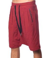 SKINGRAFT Drop Crotch Shorts Red
