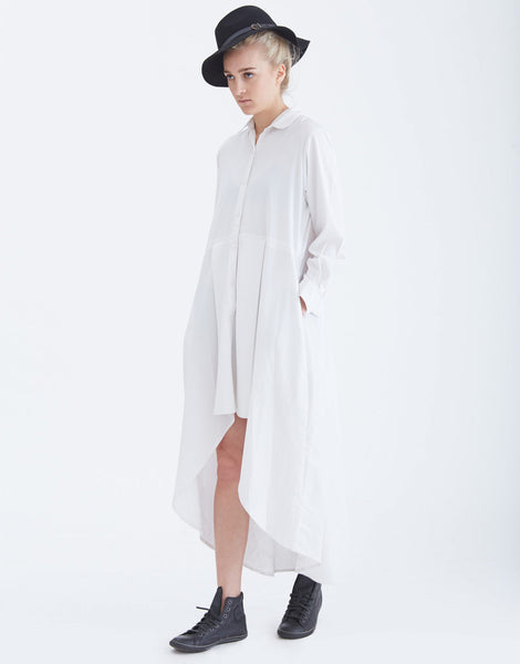 NIKICIO Structured Long Sleeve Shirt Dress