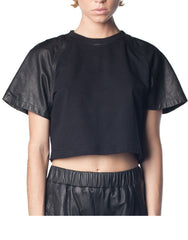 SKINGRAFT Crop Shirt Black